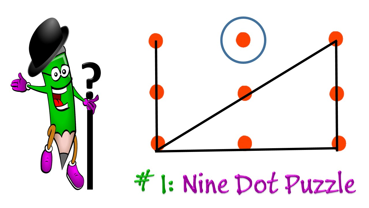 Brain Tests The 9 Dot Puzzle If You Are A Genius Solve This