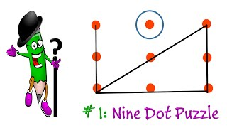 Brain Tests : The 9 Dot Puzzle : If You Are A Genius Solve This!