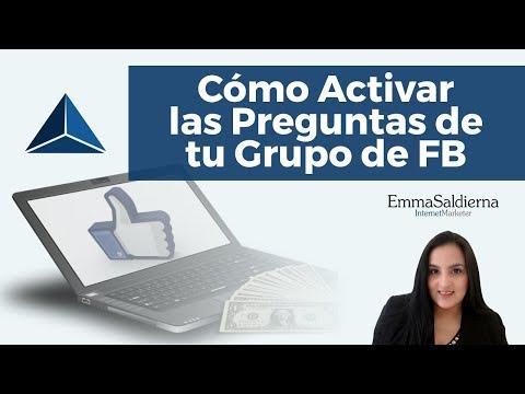 Como activar las preguntas de un Grupo Privado de facebook
