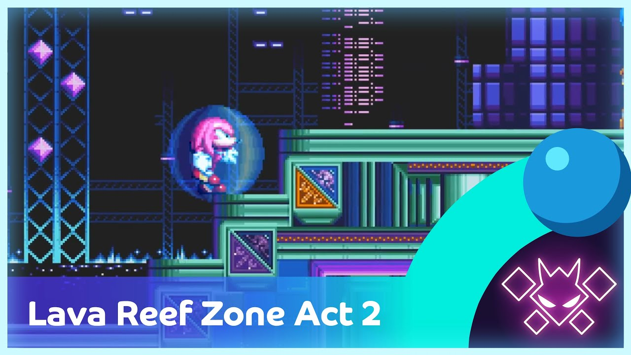 Sonic Mania - Lava Reef Zone Act 2 - Knuckles' Boss
