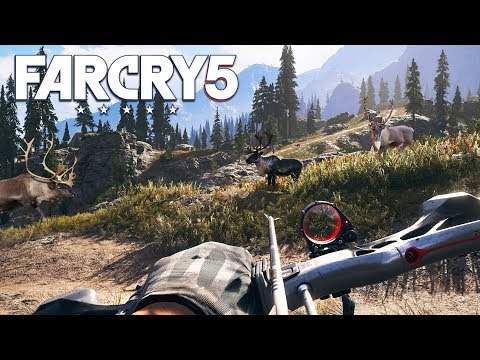 FAR CRY 5  FREE ROAM: HUNTING & FISHING!! (Far Cry 5 Gameplay)