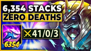 6,354 STACKS!!! HOW YOU BREAK NASUS ON NEXUS BLITZ - BunnyFuFuu | League of Legends | Nexus Blitz