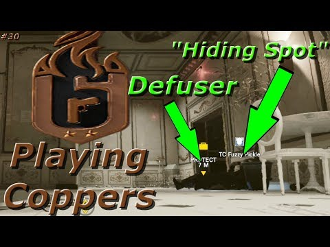Hiding On The Defuser?! Road To Copper - Rainbow Six Siege Funny Moments
