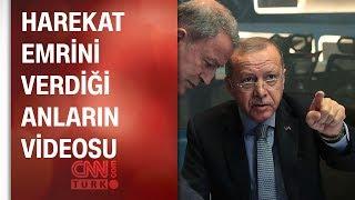Cumhurbaşkanı Erdoğan'ın Barış Pınarı Harekatı emrini verdiği anların videosu