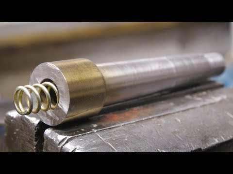 Making a spring loaded lathe center for guiding taps