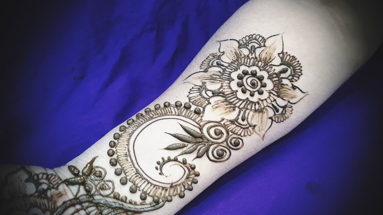 Mehndi Henna Kit Tutorial : New easy and simple floral arabic henna design for hands mehndi