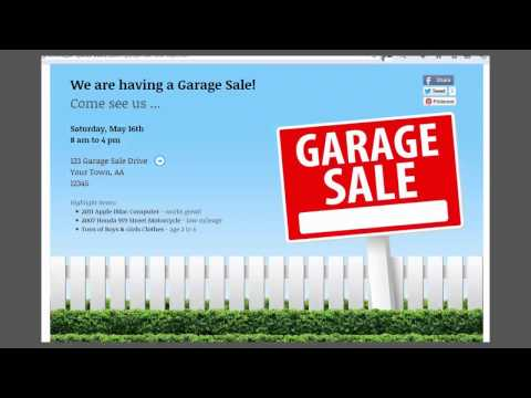 Garage Sales – Promote Your Sale Like A Pro