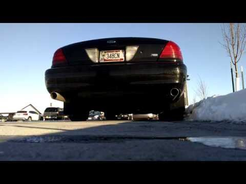 2008 Crown Victoria P71 Aero Turbine Mufflers Cold Start