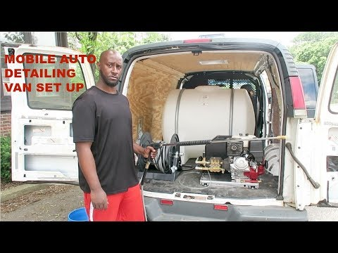 Mobile Auto Detailing Van Set Up