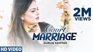 Court Marriage : Gurlej Akhtar | Jatinder Jeetu | Bhinda Bawakhel | Gold Media | Latest Punjabi Song
