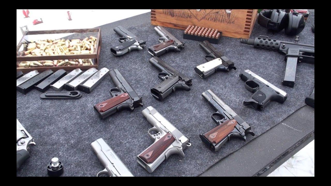 Pistolas 1911, Armas de Fuego en el Campo de Tiro - YouTube