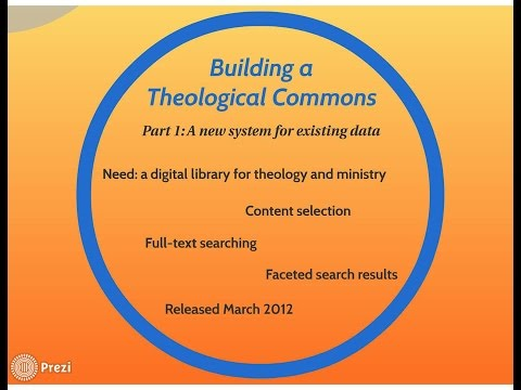 Building the Theological Commons at Princeton Theological Seminary