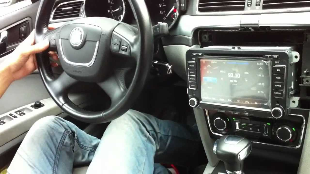 Vw Steering Wheel Control Dvd Gps Unit With Canbus Youtube