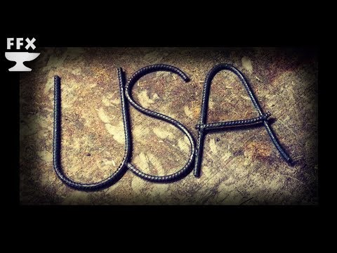 How to Make Rebar Letters: 4th of July Edition!