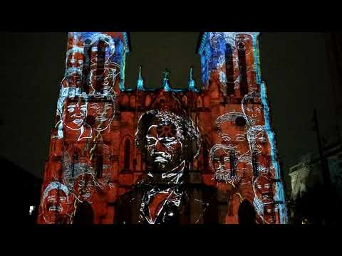""" The Saga"" San Fernando Cathedral Laser Light Show, San Antonio, TX"