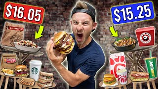 Eating The TOP 10 MOST EXPENSIVE Fast Food Menu Items!