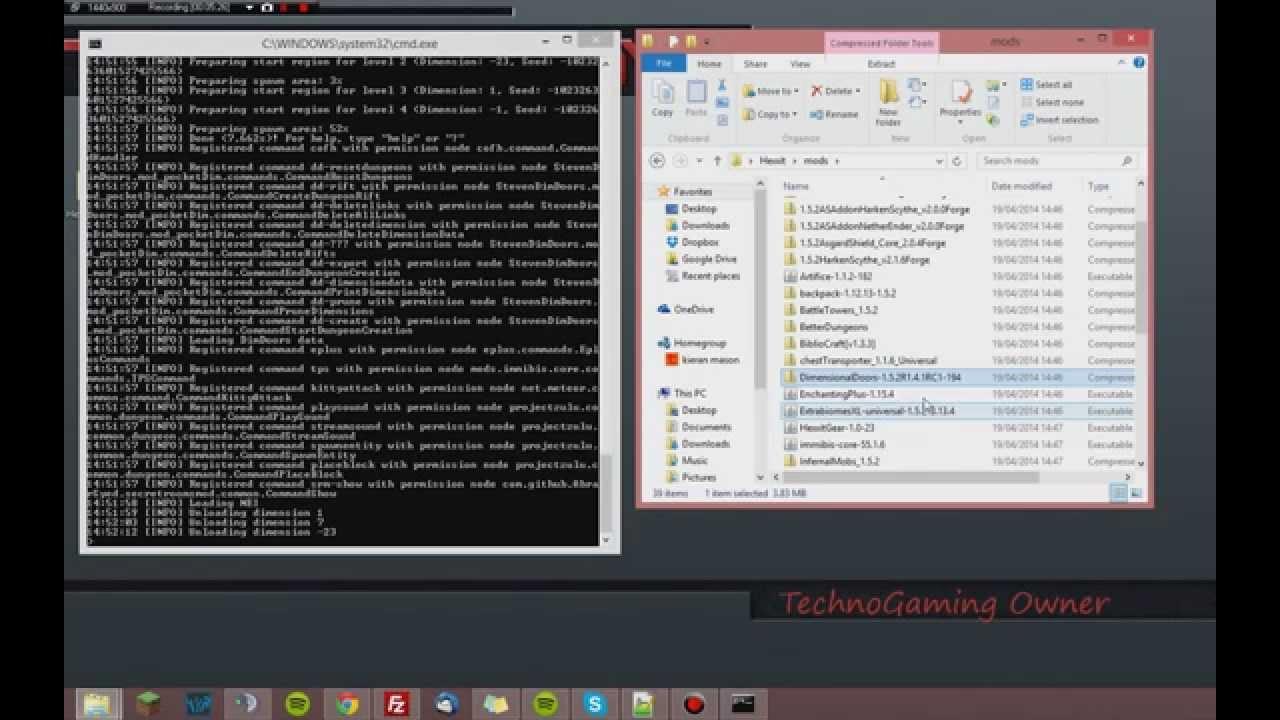 Hexxit server setup