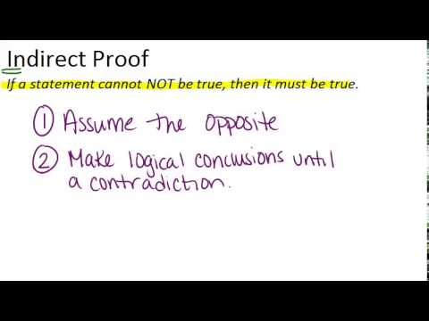 Indirect Proof in Algebra and Geometry ( Read ) | Geometry | CK-12 ...