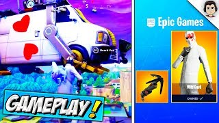 *NEW* HIGH STAKES, WILD CARD SKIN & GRAPPLING HOOK GAMEPLAY! Fortnite Getaway LTM + RELEASE DATES!
