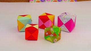 ORIGAMI WÜRFEL DIY / Cube Origami Tutorial How To / Würfel Falten Anleitung deutsch
