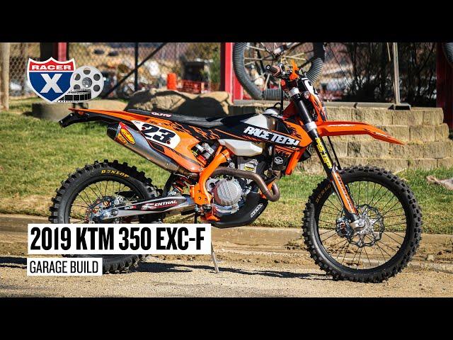 Racer X Films: Race Tech 2019 KTM 350 EXC-F Garage Build