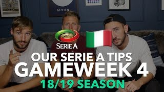 Serie A Tips - Gameweek 4 - 2018/2019