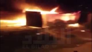 اندلاع حريق في ملهى ليلي AZUR PLAGE بزرالدة الذي خلف 7 قتلى