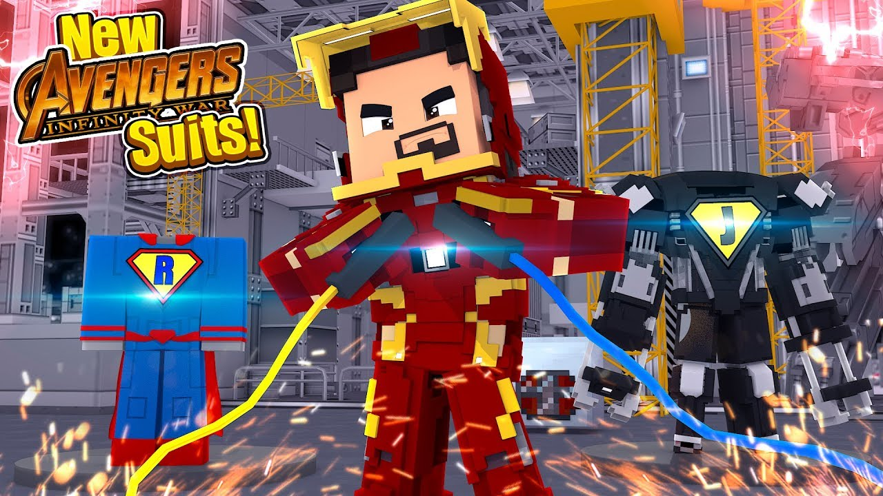 Minecraft Adventure  New Infinity War Superhero Suits