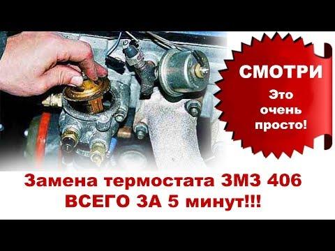 Замена термостата  ЗА 5 МИНУТ волга газель змз 406, 405, 409