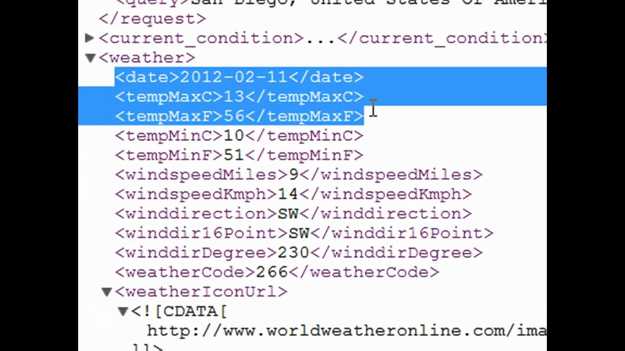 Excel VBA Using A Web Service with XMLHTTP - Weather Forecast HD