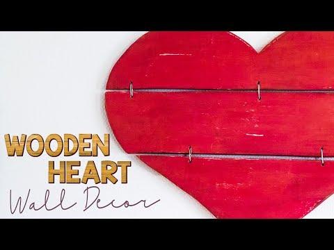 DIY Wooden Heart Wall Decoration // Annie Sloan Chalk Paint