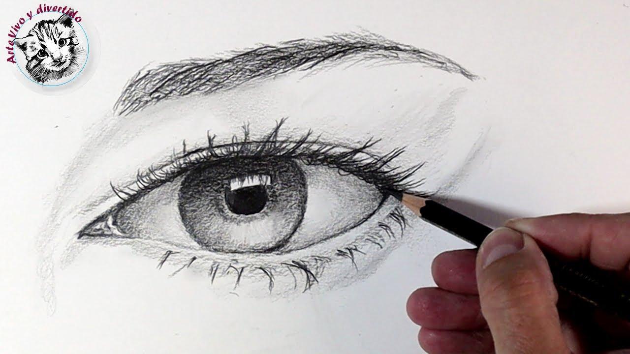Como Dibujar un Ojo a lapiz paso a paso para Principiantes