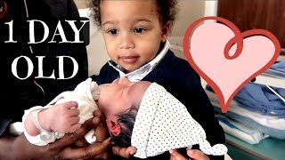 MEETING HIS BABY BROTHER FOR THE 1ST TIME   AdannaDavid