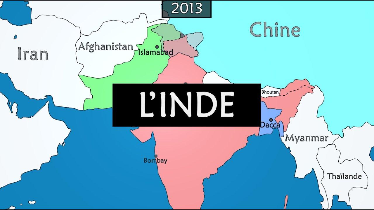 Carte De Linde En 1900.Inde Resume De L Histoire De L Inde Depuis 1900