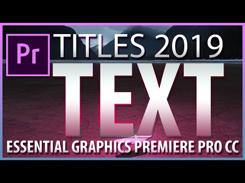 How to add TEXT in Adobe Premiere Pro CC 2019