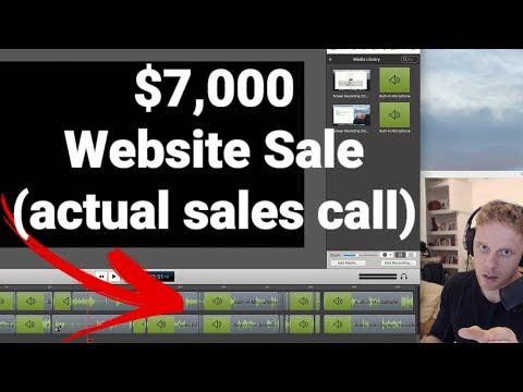 How to Sell Website Design Services - $7000 Website Sales Call
