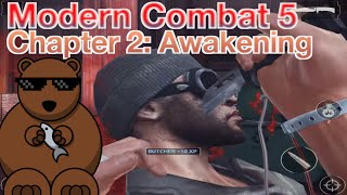 Modern Combat 5: Chapter 2 - Awakening: 01.Awakening (3 Stars Walkthrough)
