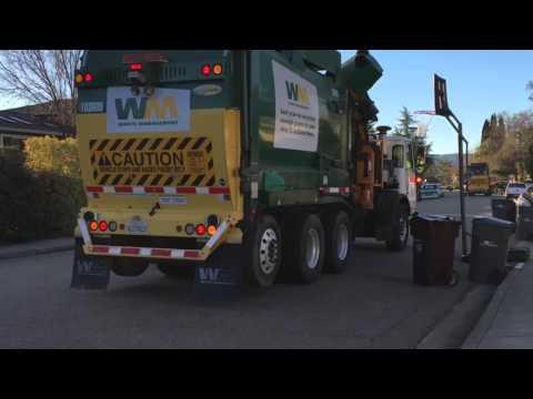 Waste Management Garbage Trucks On Presidents Day Compilation