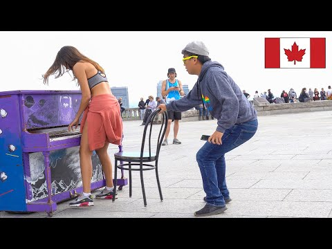 Chair Pulling Prank in Montreal!!!