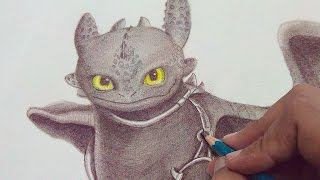 How To Draw Toothless Step by Step Tutorial (NARRATED Version)