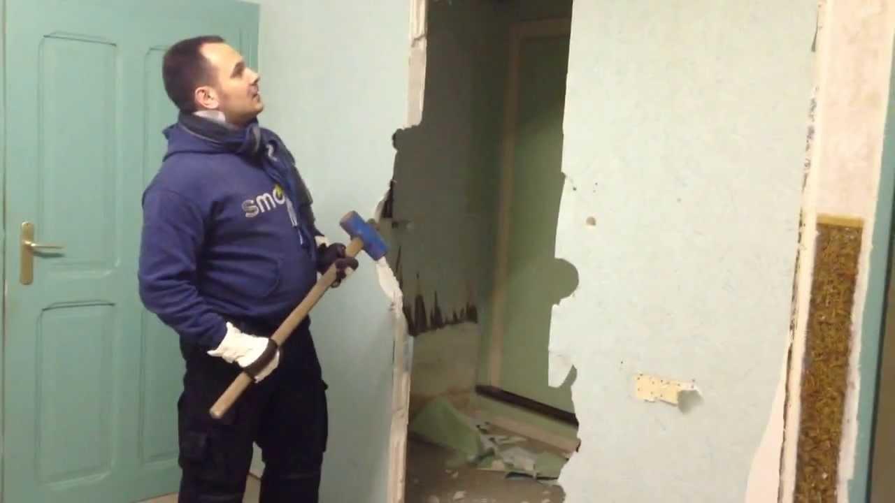 Cassage de mur youtube - Faire une saignee dans un mur ...