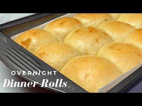 OVERNIGHT DINNER ROLLS   NO- KNEAD