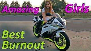 Girls Burnout On Motorcycles 2017