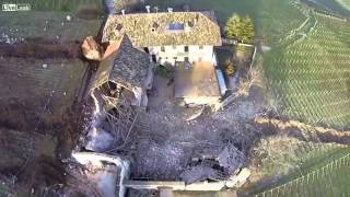 Large rock hits a house(aftermath)