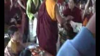 H.E. Dagmola offering to H.H Dagchen Rinpoche