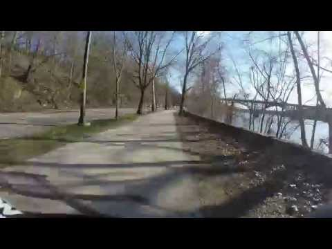 Schuylkill River Trail ride Philadelphia (4K HD) Wissahickon to South St.