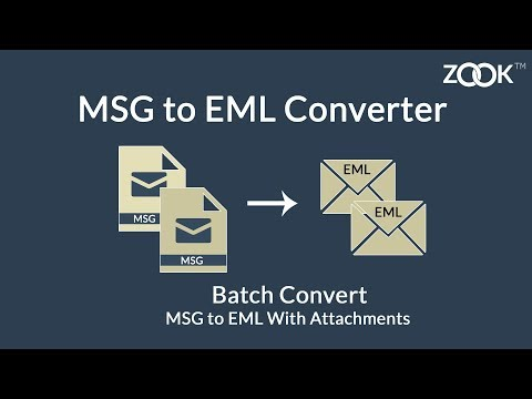MSG to EML Converter to Batch Export & Save Outlook MSG as