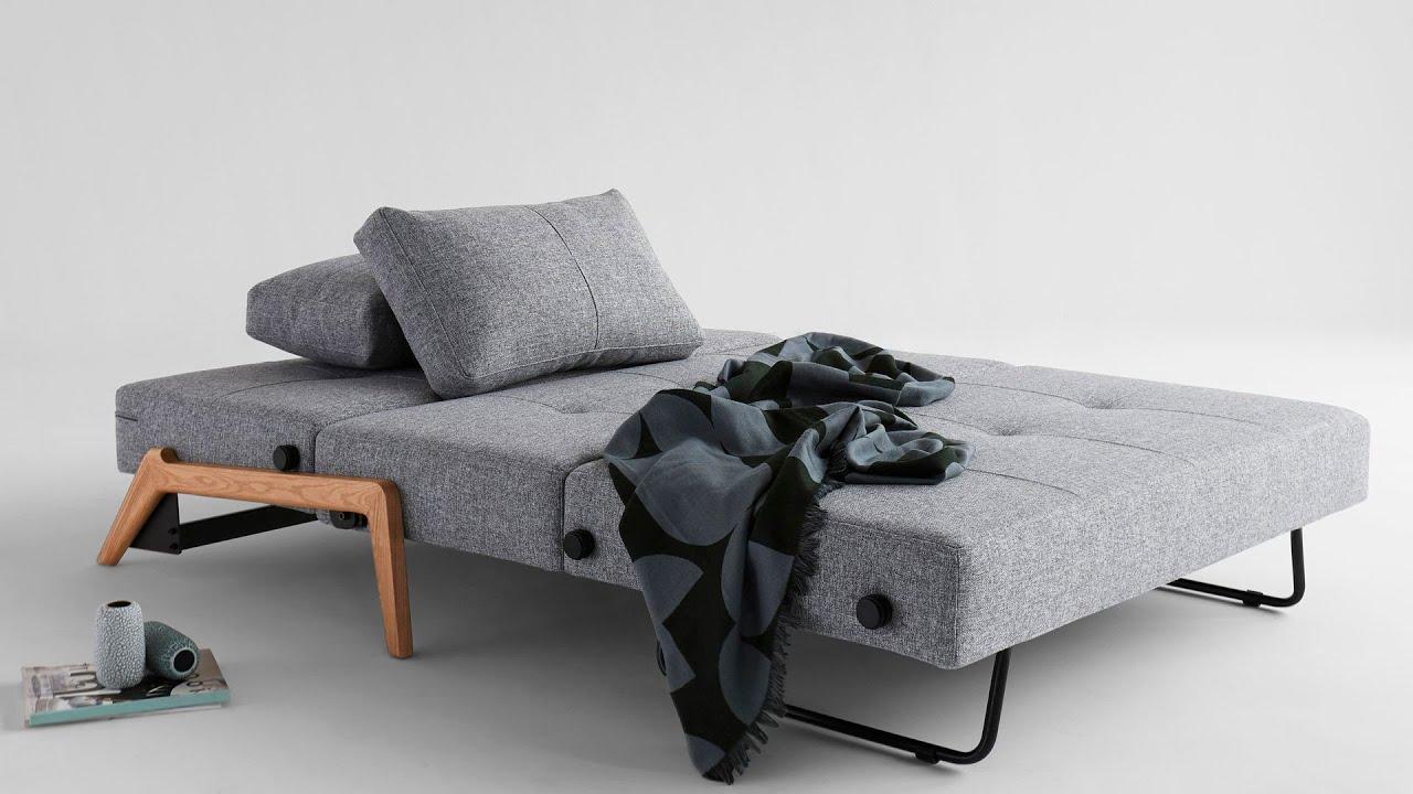 Modern Furniture Expo cubed 140 wood sofa rozkładana z funkcją spania www.design-expo.pl