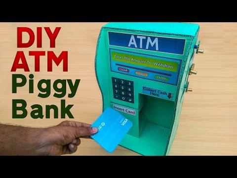 How To Make DIY Piggy Bank For Kids - DIY ATM machine for kids