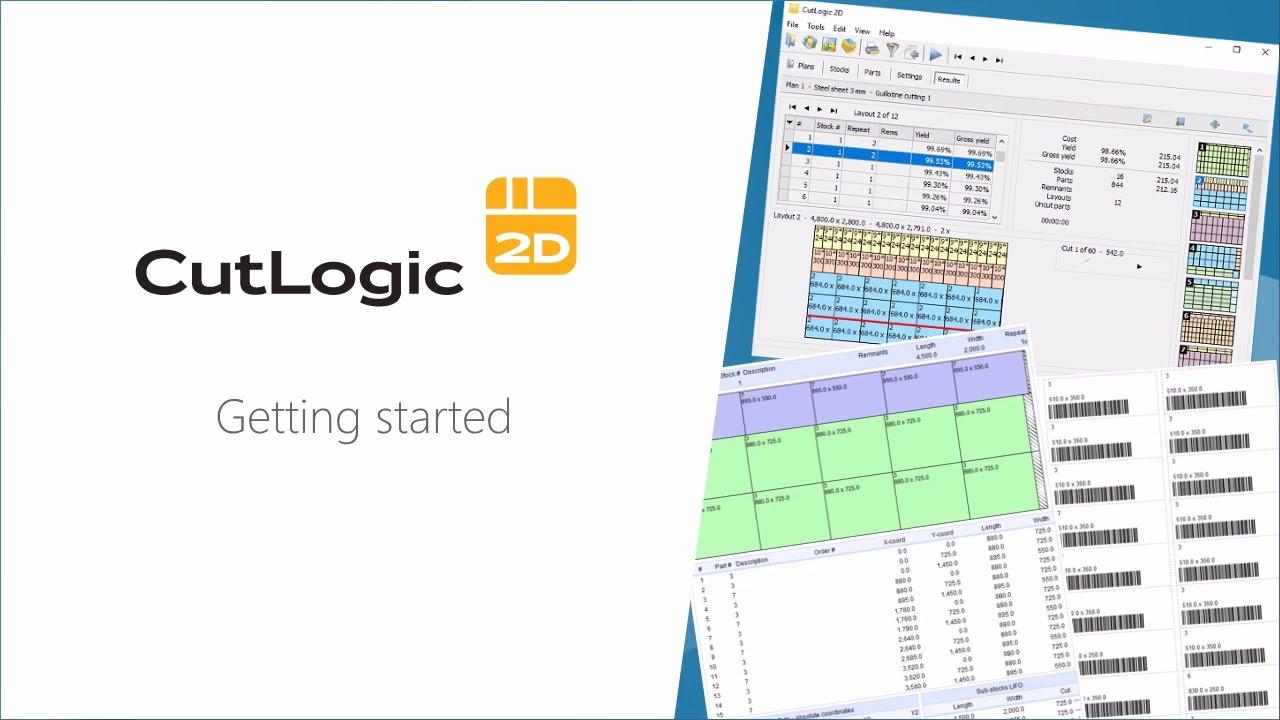 CutLogic 2D - Panel Cutting Optimization Software - Getting started